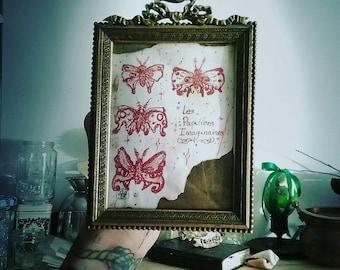 Imaginary butterflies. Framed