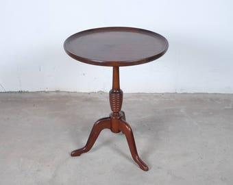 Vintage Set Of Round Antique Danish Side Tables