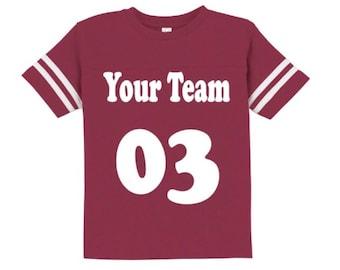 Football Jersey. Custom Football Shirt. Football Jersey. Game Day Jersey Shirt. Football Tee. Custom Jersey Tee. Football Season.