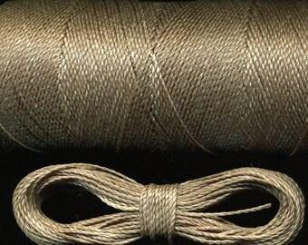 10 meters waxed thread number 664 Linhasita, grey