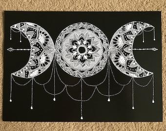 Moon Mandala Print