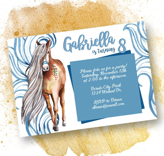 like this item - Horse Party Invitations
