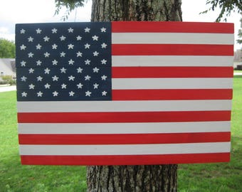 Wooden American Flag Wall Hanging burned wood american flag wall art with .50 caliber