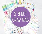 Planner Sticker Grab Bag - Mystery Sticker Grab Bag - Blind Bag Stickers - Sticker Mystery Bag -