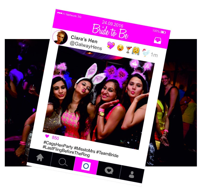 Instagram Frame - Bride to Be Cut Out Prop- Photo Booth Prop Frame ...