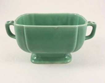 Rivera China Sugar Bowl, Vintage 1940s, Green Sugar Bowl, Homer Laughlin China, Midcentury Kitchen, Art Deco Style, Farmhouse Decor
