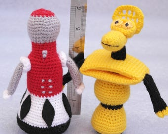 Tom Servo, and Crow T. Robot from Mystery Science Theater 3000 (MST3K) crochet Toy amigurumi  doll