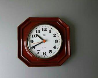 Vintage Ceramic Clock West Germany