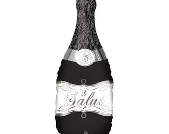 """36"""" Bubbly bottle balloon. Wine balloon. wine lover balloon. wine lover gift. wine lover decor. wine lover party. wine decor. champagne"""
