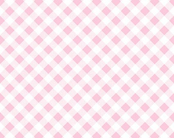 1/2 yd Sew Cherry 2 Gingham Fabric by Lori Holt for Riley Blake C5808 Pink