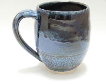 Blue ceramic mug - coffee mug - tea mug - stoneware mug - SierraAvisPottery