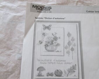 Embroidery patterns and needlework pattern cat notebook