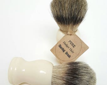 Shaving Brush, Pure Badger, Resin Handle