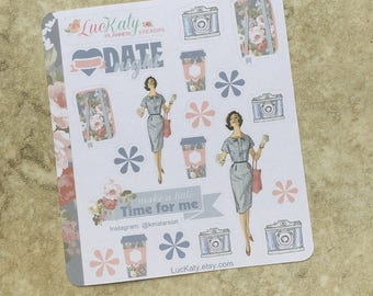 SWEET NAUTICAL Decorative Planner Stickers: Suitable for use with  inkWELL Press Planner  or Erin Condren Lifeplanner   Luckaty
