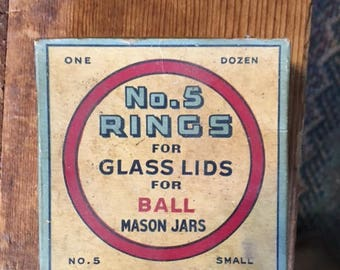 No. 5 Rubber Rings for glass lids for Mason Jars in original box