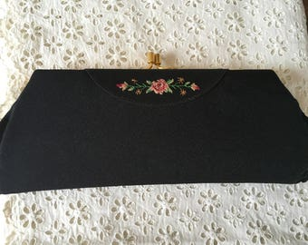 Vintage Austrian needlepoint purse/clutch