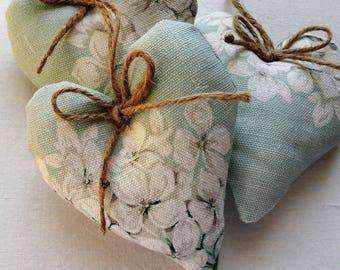 Laura Ashley Heligan eau de nil heart door hanger country vintage floral gift home