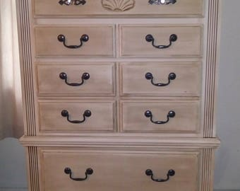 Newly refinished tall dresser