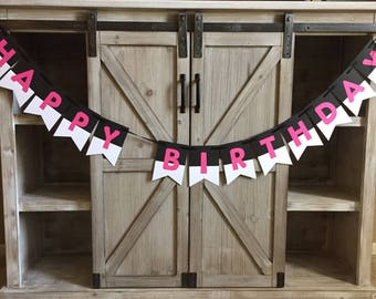 Customizable Happy Birthday Banner- Can Be Made In Any Color