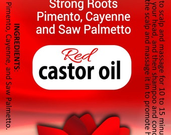 Red Castor Oil with Cayenne Pepper and Saw Palmetto