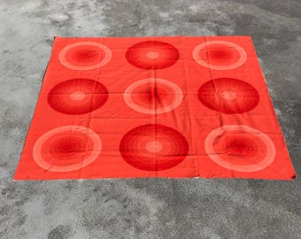 Verner Panton 'Medim Circle' orange Spectrum cotton fabric for Mira-X