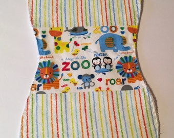 A Day at the Zoo Flannel/Terry Cloth Burp Cloths (Set of 3)