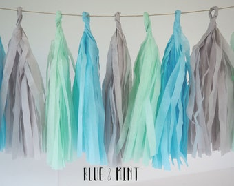 Tassel Garland - COLOR OPTIONS.  Baby Shower Decor, Party Decor, Party.