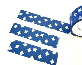 Cute Skandinavian flower fabric style washi tape