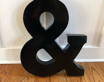 Large Black Metal Letters Alluring Large Metal Letters  Etsy Decorating Design