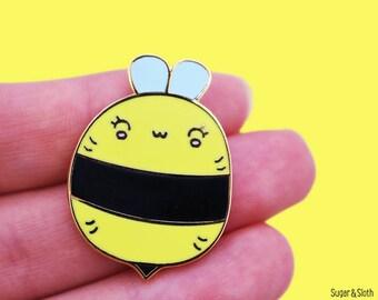 Bumble bee badge, bumblebee pin, save the bees pins, honey bee pin, honey bee gifts, bumble bee lapel pin bee gift, bumble bee enamel pin