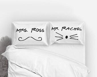 Friends TV Show   Friends TV Show Gift   Friends Show Quotes   Friends Show   Rachel Greene   Ross Geller   Mrs Ross Mr Rachel   Pillowcases