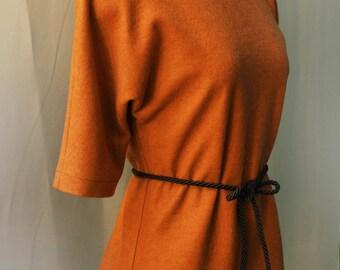 kimono cut wool vest/ top