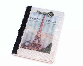 Small Journal, Pocket Notebook, Mini Notebook, Eiffel Tower, French Inspired, Password Notebook, Dream Journal, Small Notebook, French