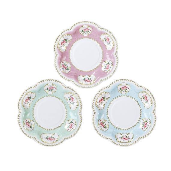 Il_570xn  sc 1 st  Catch My Party & Plates | Truly Chintz Extra Small Paper Plates 12pk | 5.5