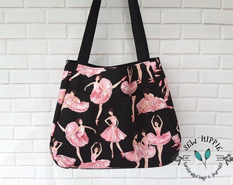 Ballerina Dance Tote Bag for Girls Ballet Tote Gift for Girls Pink Ballet Bag Ballet Dancer Gift for Ballerina Ballet Student Gift for Her
