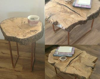 Rustic, Live-edge, Spalted Maple Coffee and End Table Set