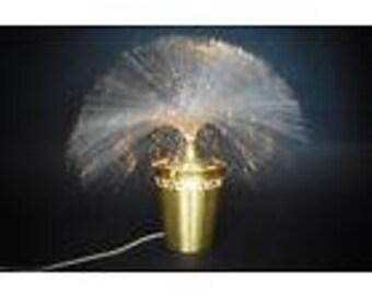 fibre optic lamp, brass lamp, vintage fibreoptic lamp, Retro Lamp, Space Age lamp, home decor, retro star lamp, 70s lamp, retro brass lamp