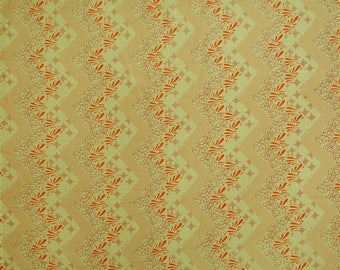 """Indian Decor Fabric, Chevron Print, Beige Fabric, Dress Material, Sewing Fabric, 44"""" Inch Cotton Fabric By The Yard ZBC8757D"""