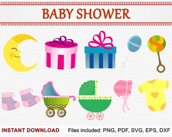 Baby Shower Clipart | Etsy
