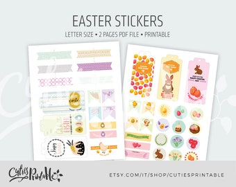 Easter Sticker Kit • Easter Planner Stickers • Easter Stickers • Holiday Planner Stickers • Spring Planner Stickers • Instant download
