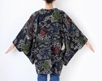 traditional black kimono jacket, Haori, black kimono top, womens kimono, haori kimono, gift for her, kimono black, special gift  /2020