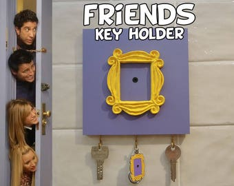 FRIENDS tv show friends peephole frame Wall Mounted Key Holder friends door frame marco friends colgador de llaves best friend gift mom