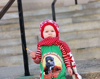Hoodie Set, baby jumpsuit, childrens jumper, sweatshirt, modern baby, christmas outfit, christmas romper, baby boy, a chrismas story