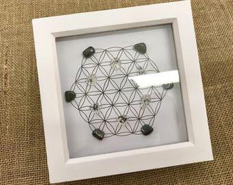 Grounding Framed Crystal Grid