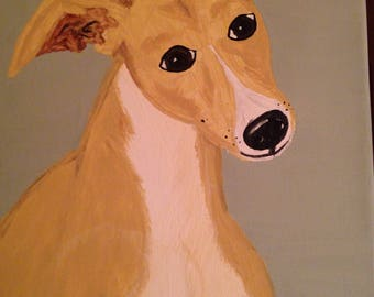 Greyhound painting