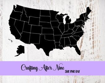 States Svg United States Svg USA Svg All States Svg - Us map with state outlines