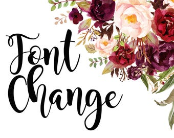 Font change service