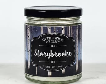 Storybrooke   Once Upon a Time Scented Vegan Soy Candle  