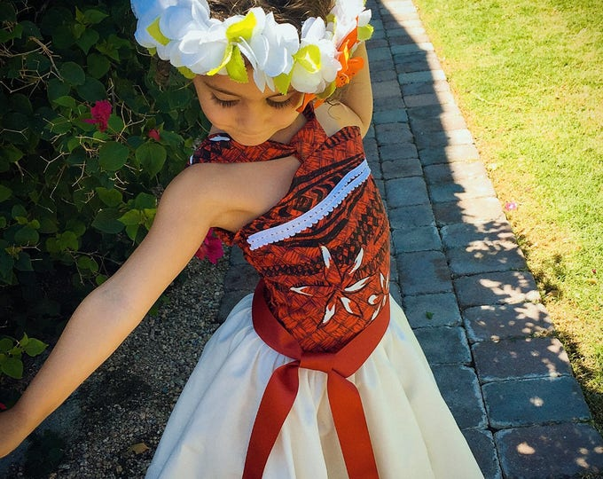 Custom Moana Dress with tulle