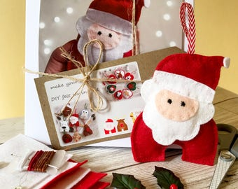 felt santa craft kit diy sewing kit felt christmas decor make your own